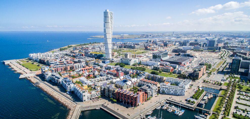 Malmö Şehrinden Görünüm